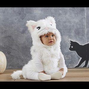 Pottery Barn White Kitty Costume size 12-24 mo